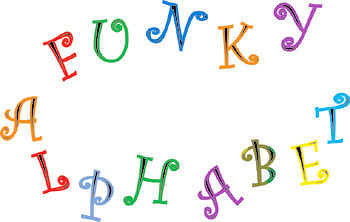 Funky Alphabet Tappits