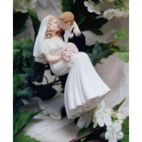 Threashold of Happiness Wedding Cake Topper