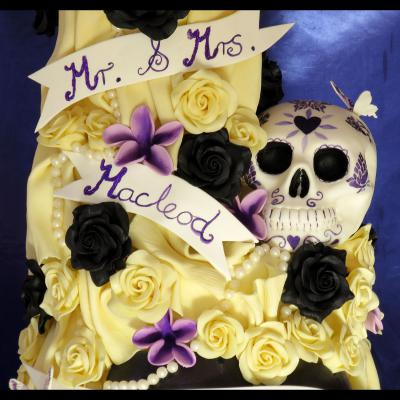 Tattooed Skull in Sugarcraft.