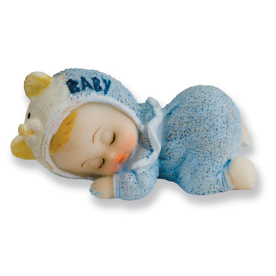 Cake Toppers Baby Boy : Sleeping Baby Boy Cake Topper Sleeping Baby Boy Cake Topper