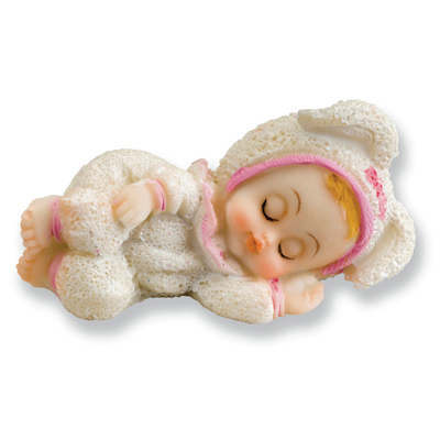 Sleeping Baby Girl Cake Topper