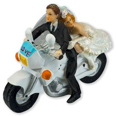 Motorbike Bride and Groom Cake Topper