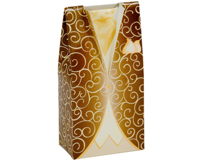 Brown Tuxedo Favour Box