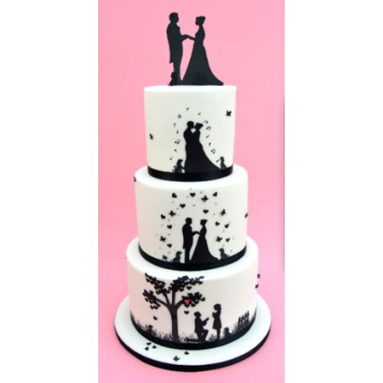 Wedding Silhouette Set Silhouette Wedding Cake Cutters