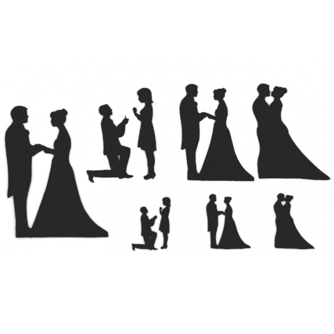 Wedding silhouette set silhouette wedding cake cutters wedding silhouette cake wedding silhouette cutter set junglespirit Gallery