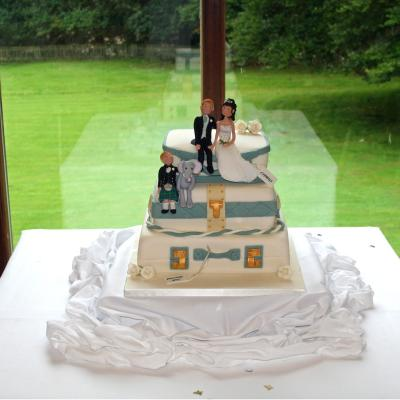 3 tier Wedding Suitcases with Personalised Bride and Groom