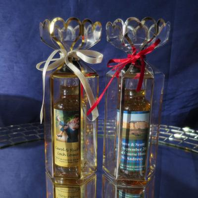 Whisky Miniatures in Lantern Favours