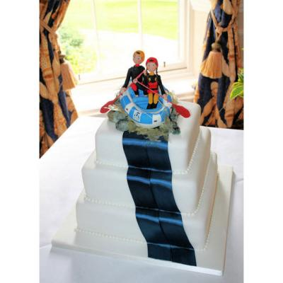 White Water Rafting Wedding Cake